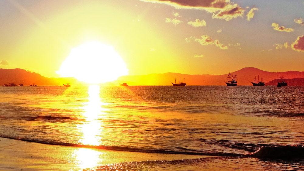 por do sol norte da ilha florianópolis